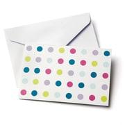 Gartner Studios All Occasion Note Cards, Multi-Coloured Polka Dots On White
