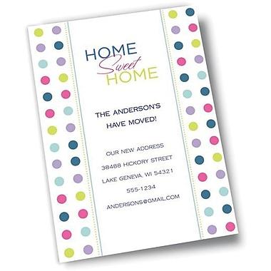 Gartner Studios All Occasion Customizable Invitations + Envelopes, Multi Coloured Polka Dots On White