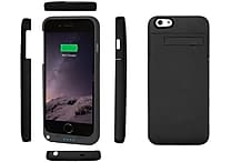 i-Phone 6 Power Charging Juice Pack Phone Case, Black
