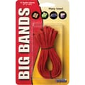 Alliance Big Bands, #117B (7in. X 1/8in.) Red, 12/Pack Rubber Bands