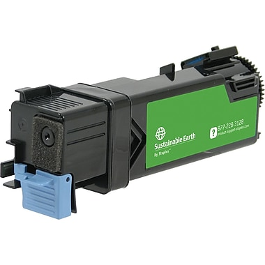 Sustainable Earth by Staples Remanufactured Cyan Toner Cartridge, Dell 2150 (SEBD2150CRDS), High Yield