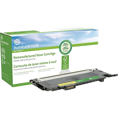 Sustainable Earth by Staples Remanufactured Yellow Toner Cartridge, Samsung CLT-Y407S (SEBCLP320YRDS)