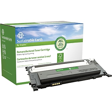 Sustainable Earth by Staples Remanufactured Black Toner Cartridge, Samsung CLT-K409S (SEBCLP315BRDS)
