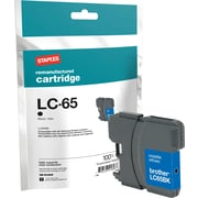 Staples Remanufactured Black Ink Cartridge, Brother LC65HYBK (SIB-RLC65B), High Yield