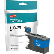 Staples Remanufactured Black Ink Cartridge, Brother LC79BK (SIB-RLC79B), Super High Yield