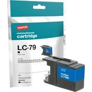 Staples Remanufactured Black Ink Cartridge, Brother LC79BK (SIB-RLC79B), Super High Yield