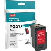 Staples Reman Black Ink Cartridge, Canon PG-210XL (2973B001)