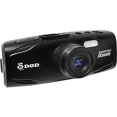 DOD LS360W Full HD Dash Camera with WDR Image Enhancement (GPS Capable)-Bilingual