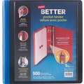 1-1/2'' Staples Better® Binder with Pocket & D-Ring, Blue
