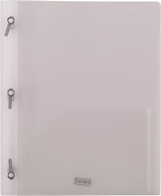 2 Pocket Plastic Folder Clear