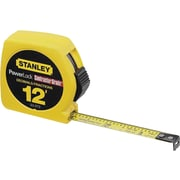 Powerlock® Mylar® Polyester Single Side Measuring Tape, 12 ft (L) x 1/2 in (W) Blade, Inch/Decimal