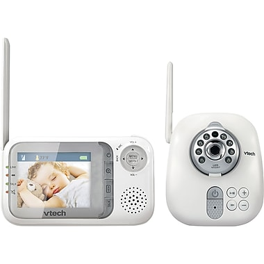 vtech vm321 safe and sound full color video and audio baby monitor staples. Black Bedroom Furniture Sets. Home Design Ideas
