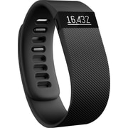 Fitbit Charge Wireless Activity Wristband, Large, Black (FB404BKLS)