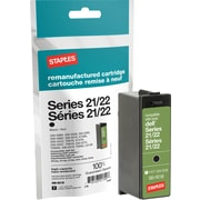 Staples Remanufactured Black Ink Cartridge, Dell Series 22 (SID-R21B), High Yield