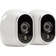 NETGEAR Arlo Smart Home Security Camera System with 2 HD, 100% Wire-Free, Indoor/Outdoor with Night Vision (VMS3230)