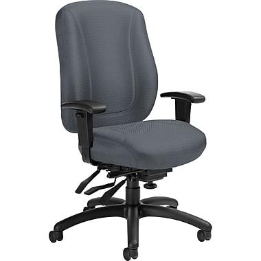 Offices To GoMD – Chaise de bureau Overtime à dossier élevé et à multiples inclinaisons, argent