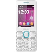 BLU Janet L T230 Unlocked GSM Dual-SIM Cell Phone - White/Blue