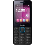 BLU Janet L T230 Unlocked GSM Dual-SIM Cell Phone - Black/Blue