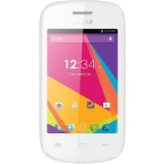 BLU Dash JR TV D141T Unlocked GSM Dual-SIM Android Cell Phone - White