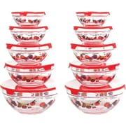 Chef Buddy 20 Piece Glass Bowl Set