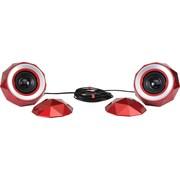 Digital Treasures Lyrix PowerBall X2 Bluetooth Speakers (Red) with Bonus 2200mAh Power Bank
