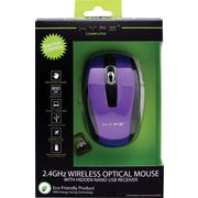 2.4GHz Wireless Optical Mouse with Hidden USB Receiver, Purple