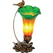 River of Goods 10.5H Handblown Glass Cardinal Lily Accent Lamp