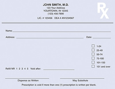 template for prescription pad - rx pads custom rx pads staples