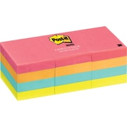"Post-it® Notes, 1.5""x 2"", Cape Town Collection, 12 Pads/Pack (653AN)"