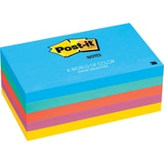 "Post-it® 3"" x 5"" Jaipur Colors Notes, 5 Pads/Pack"
