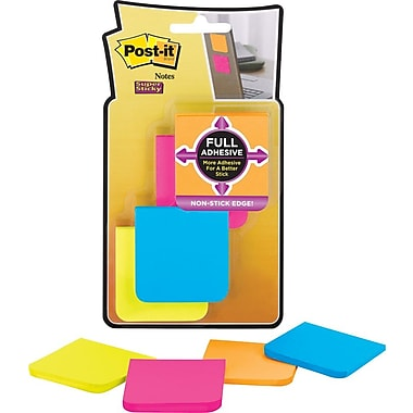 Post-it® Super Sticky Full Adhesive, 2in. x 2in. Rio De Janiero Notes, 8 Pads/Pack