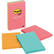 "Post-it® 4"" x 6"" Line-Ruled Cape Town Notes, 3 Pads/Pack"