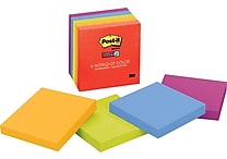 Post-it® Super Sticky 3' x 3' Assorted Marrakesh Notes, 5 Pads/Pack
