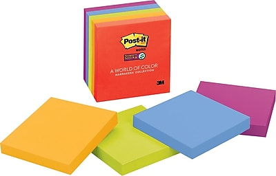 Post-it® Super Sticky Notes, 3 x 3, Marrakesh
