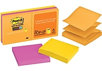 Post-it® Super Sticky Pop-up Notes, 3' x 3', Rio de Janeiro Collection, 6 Pads/Pack (R330-6SSUC)