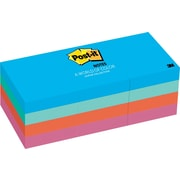 "Post-it® Notes, 1.5"" x 2"", Jaipur Collection, 12 Pads/Pack (653-AU)"