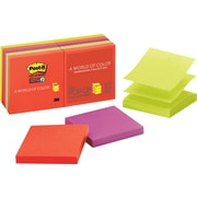 "Post-it® Super Sticky 3"" x 3"" Marrakesh Pop-Up Notes, 10 Pads/Pack"