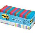 Post-it® 3in. x 3in. Bright Colors with Cabinet Pack, 18/pack