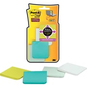 "Post-it® Super Sticky Full Adhesive 2"" x 2"" Bora Bora Notes, 8 Pads/Pack"