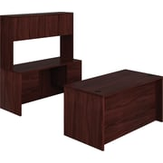 HON 10500 Series Compact Workstation/Office Desk, Mahogany