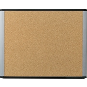 U Brands MOD Cork Bulletin Board 20 x 16 Black and Grey Frame