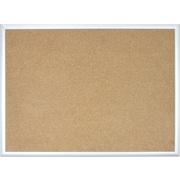 U Brands Basics Cork Bulletin Board 47 x 35 Silver Aluminum Frame