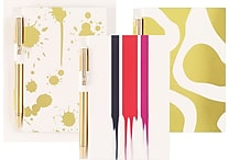 Cynthia Rowley Memo Pad with Pen, Assorted Gold (43618)