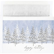 Great Papers® Holiday Cards Silver Tree Scene  , 16/Count