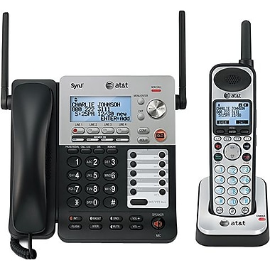 AT&T SynJ SB67138 4-Line Expandable Corded/Cordless Small Business Phone System