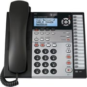 AT&T 1070 4-Line Small Business Telephone with Caller ID, Expandable Corded, Black/Silver