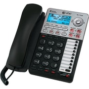 AT&T ML17939 2-Line Corded Telephone with Digital Answering System, Black