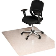 "ES Robbins ecoKLEER Chairmat, For Standard Pile Loop Berber Carpet, No Lip, Rectangle, 46"" x 60"""