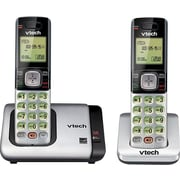 VTech CS6719-2 DECT 6.0 Expandable Cordless Phone with Caller ID/Call Waiting, Silver with 2 Handsets