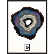 Agate B Framed Wall Art with Postage Stamp